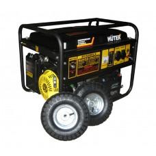 Генератор Huter DY6500LХ (аккумулятор и колеса)